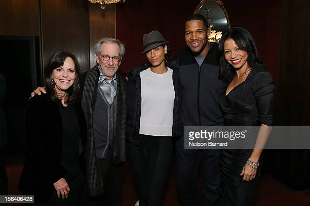 Actress Sally Field director Steven Spielberg Nicole Murphy Michael Strahan and actress Gloria Reuben attend the special screening of Steven...