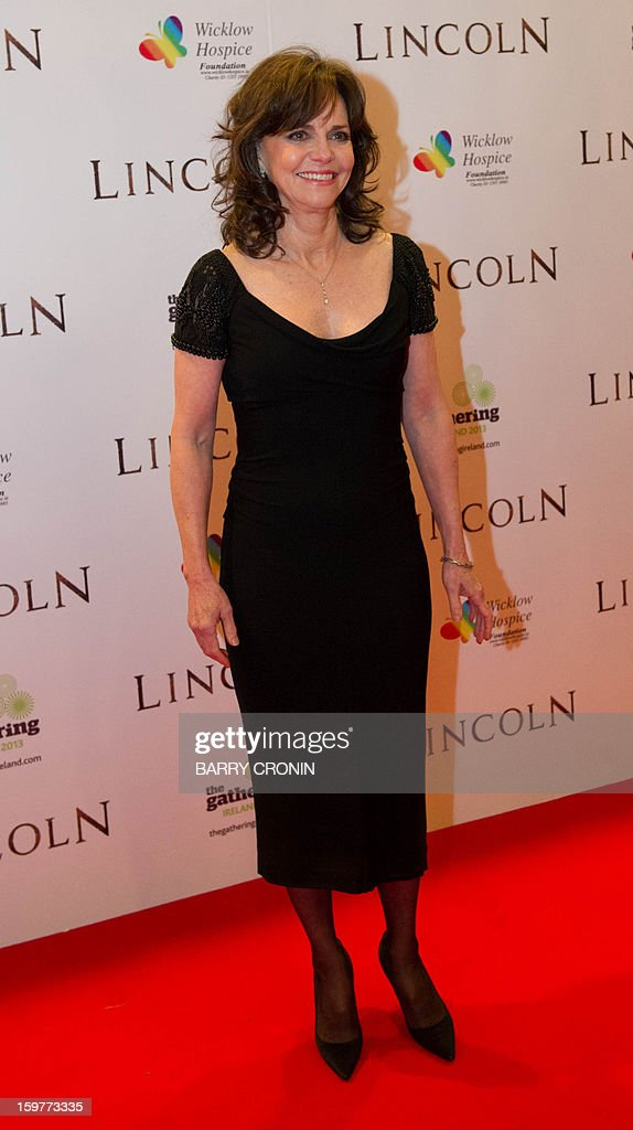 US actress Sally Field poses on the red carpet during arrival for the European premiere of the film 'Lincoln' in Dublin on January 20, 2013.