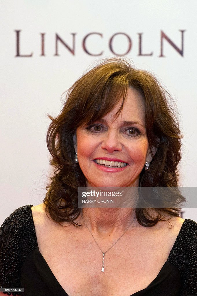 US actress Sally Field poses on the red carpet during arrival for the European premiere of the film 'Lincoln' in Dublin on January 20, 2013. AFP PHOTO / BARRY CRONIN