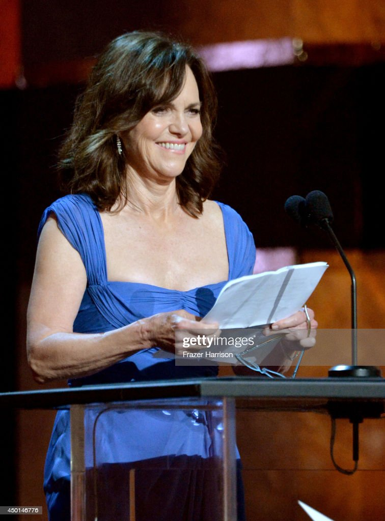 Actress <a gi-track='captionPersonalityLinkClicked' href=/galleries/search?phrase=Sally+Field&family=editorial&specificpeople=206350 ng-click='$event.stopPropagation()'>Sally Field</a> speaks onstage at the 2014 AFI Life Achievement Award: A Tribute to Jane Fonda at the Dolby Theatre on June 5, 2014 in Hollywood, California. Tribute show airing Saturday, June 14, 2014 at 9pm ET/PT on TNT.