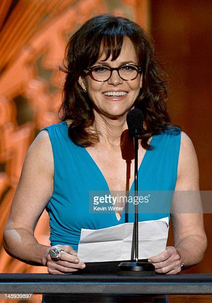 Actress Sally Field speaks onstage at the 40th AFI Life Achievement Award honoring Shirley MacLaine held at Sony Pictures Studios on June 7 2012 in...