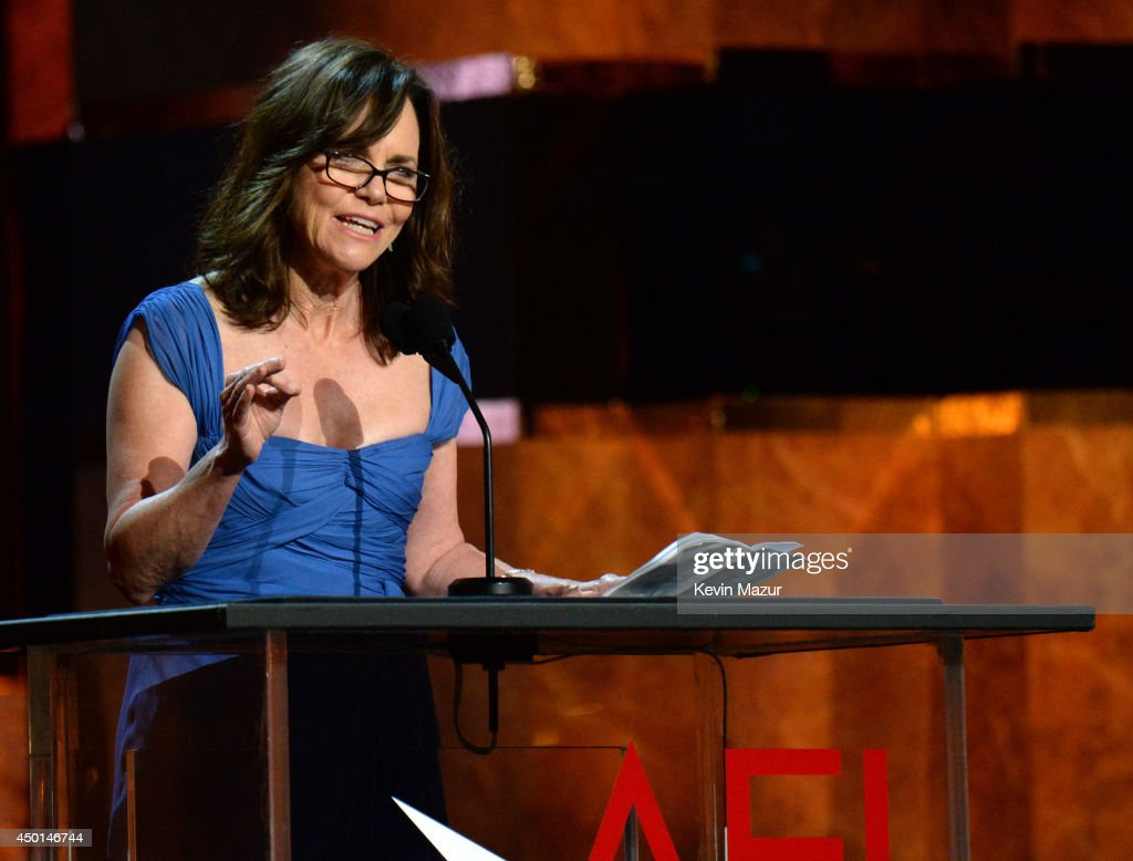 Actress Sally Field speaks onstage during the 2014 AFI Life Achievement Award A Tribute to Jane Fonda at the Dolby Theatre on June 5 2014 in...