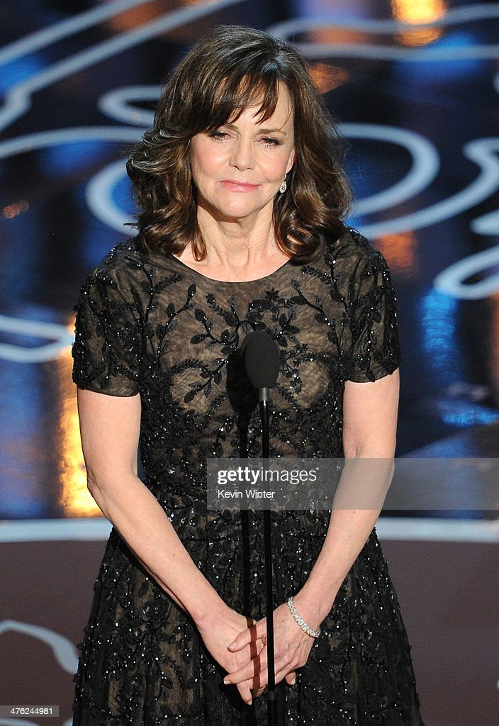 Actress Sally Field speaks onstage during the Oscars at the Dolby Theatre on March 2 2014 in Hollywood California