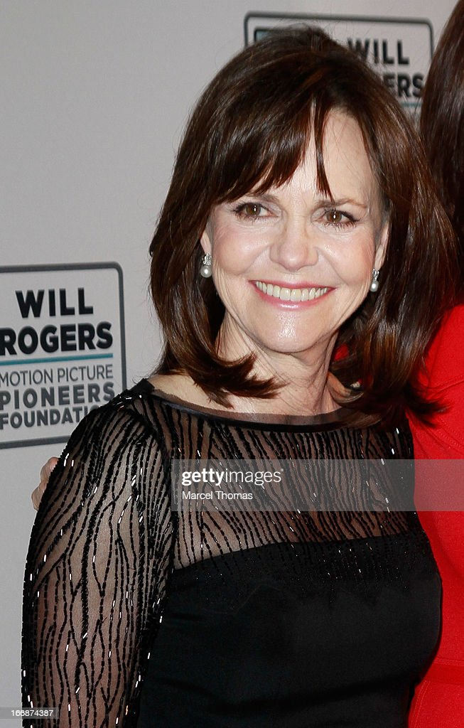 Actress Sally Fields arrives at a Will Rogers Motion Pictures Pioneers Foundation dinner honoring producer Kathleen Kennedy with the 2013 Pioneer of the Year Award during CinemaCon 2013 at Caesars Palace on April 17, 2013 in Las Vegas, Nevada.
