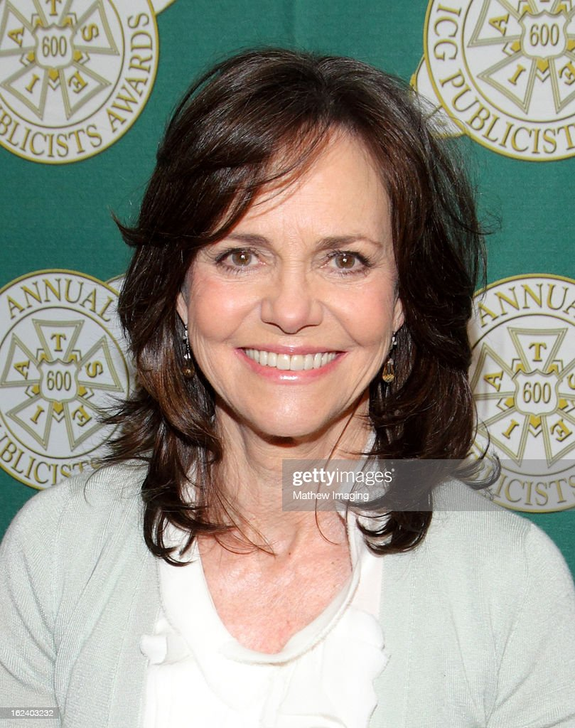 Actress <a gi-track='captionPersonalityLinkClicked' href=/galleries/search?phrase=Sally+Field&family=editorial&specificpeople=206350 ng-click='$event.stopPropagation()'>Sally Field</a>s attends the 50th Annual ICG Publicists Awards which took place at The Beverly Hilton Hotel on February 22, 2013 in Beverly Hills, California.