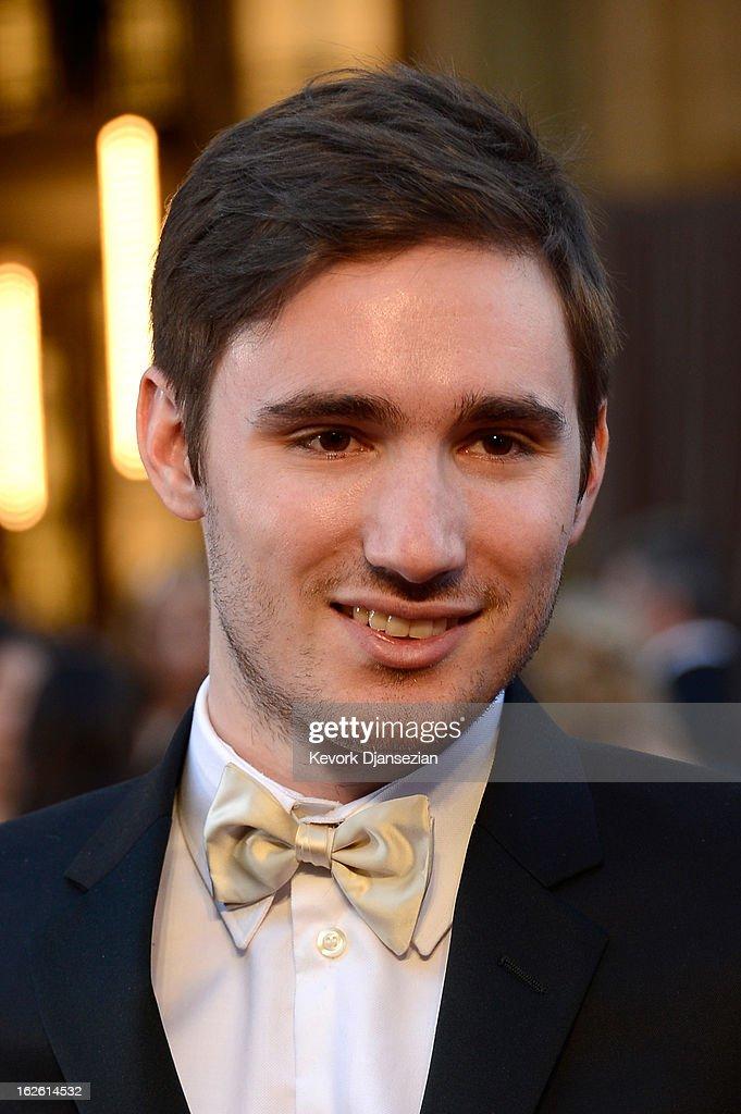 Actress Sally Field's son, Sam Greisman, arrives at the Oscars at Hollywood & Highland Center on February 24, 2013 in Hollywood, California.