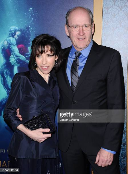 Actress Sally Hawkins and actor Richard Jenkins attend the premiere of 'The Shape of Water' at the Academy of Motion Picture Arts and Sciences on...