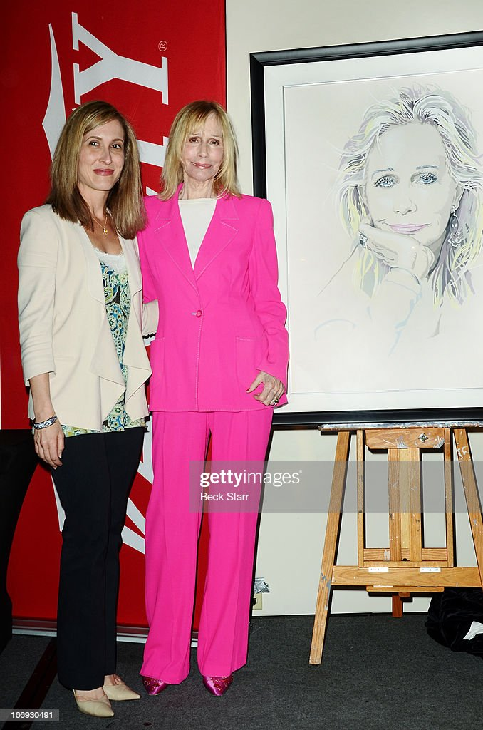 Actress <a gi-track='captionPersonalityLinkClicked' href=/galleries/search?phrase=Sally+Kellerman&family=editorial&specificpeople=207185 ng-click='$event.stopPropagation()'>Sally Kellerman</a> (R) is honored with a Lifetime Achievement Award at The Hollywood Chamber Of Commerce 92nd Annual Installation & Lifetime Achievement Awards luncheon at Sheraton Universal on April 18, 2013 in Universal City, California.