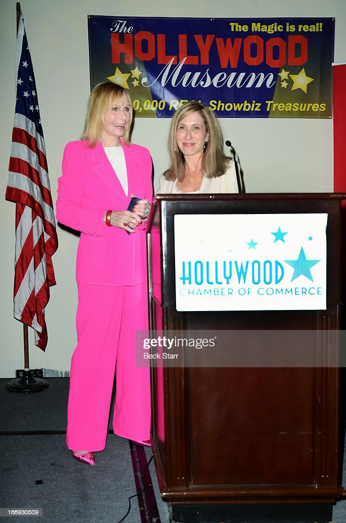 Actress <a gi-track='captionPersonalityLinkClicked' href=/galleries/search?phrase=Sally+Kellerman&family=editorial&specificpeople=207185 ng-click='$event.stopPropagation()'>Sally Kellerman</a> is honored with a Lifetime Achievement Award at The Hollywood Chamber Of Commerce 92nd Annual Installation & Lifetime Achievement Awards luncheon at Sheraton Universal on April 18, 2013 in Universal City, California.