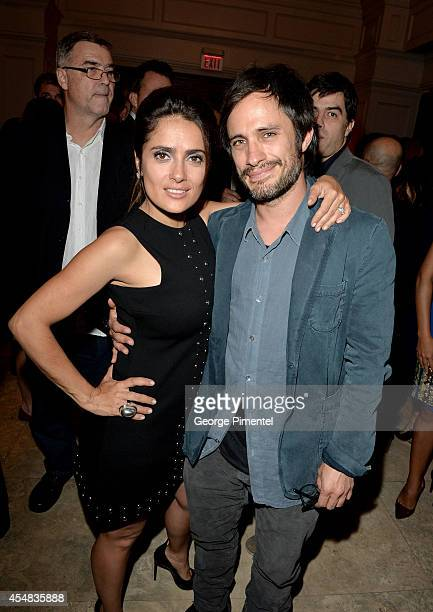 Actress Salma Hayek and actor Gael Garcia Bernal attend HFPA InStyle's 2014 TIFF Celebration at the Windsor Arms Hotel on September 5 2014 in Toronto...