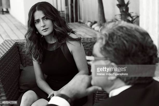 110018002 Actress Salma Hayek and author Deepak Chopra are photographed for Madame Figaro on May 26 2014 in Paris France PUBLISHED IMAGE CREDIT MUST...