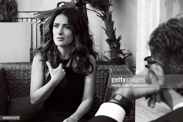 110018004 Actress Salma Hayek and author Deepak Chopra are photographed for Madame Figaro on May 26 2014 in Paris France PUBLISHED IMAGE CREDIT MUST...