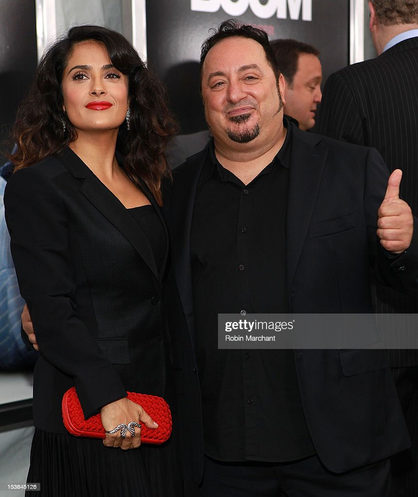Actress Salma Hayek (L) and Director Frank Coraci attend the Here Comes The Boom Premiere at AMC Loews Lincoln Square on October 9, 2012 in New York City.