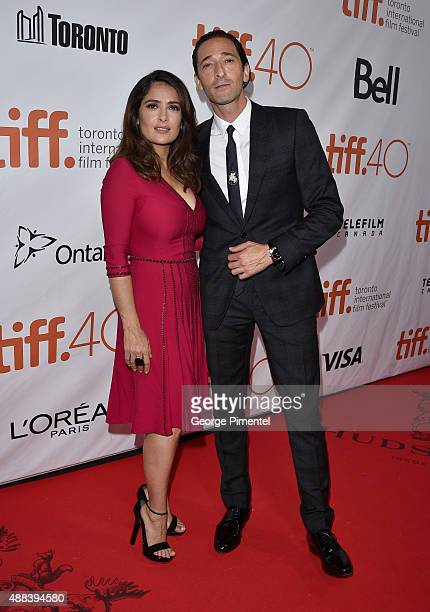 Actress Salma Hayek and executive producer/actor Adrien Brody attend the 'Septembers of Shiraz' premiere during the 2015 Toronto International Film...