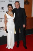 Actress Salma Hayek and FrancoisHenri Pinault attend The 2nd Annual amfAR Cinema Against AIDS Dubai Gala held at the Atlantis The Palm Hotel during...