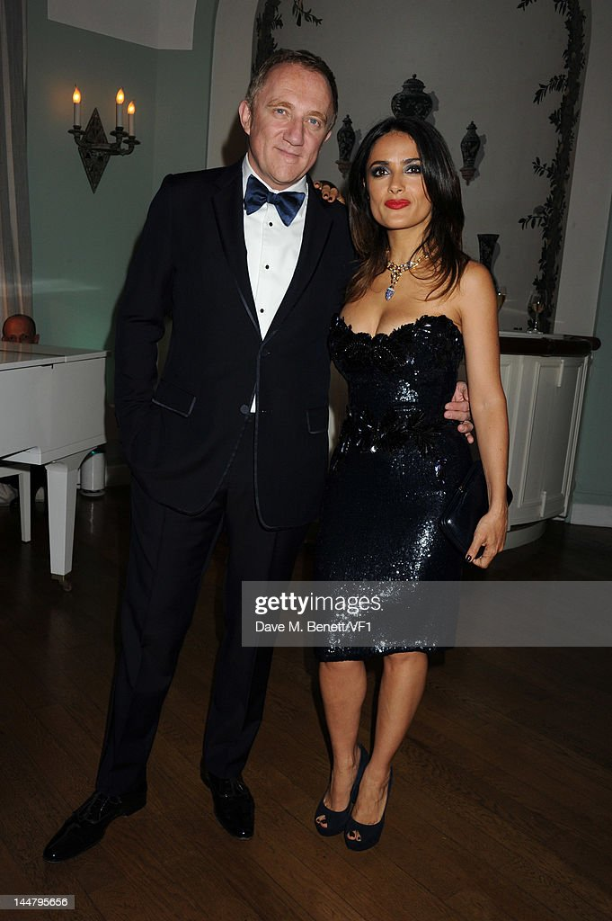 Actress Salma Hayek and Francois-Henri Pinault attend the Vanity Fair And Gucci Party during the 65th Annual Cannes Film Festival at Hotel Du Cap on May 19, 2012 in Antibes, France.