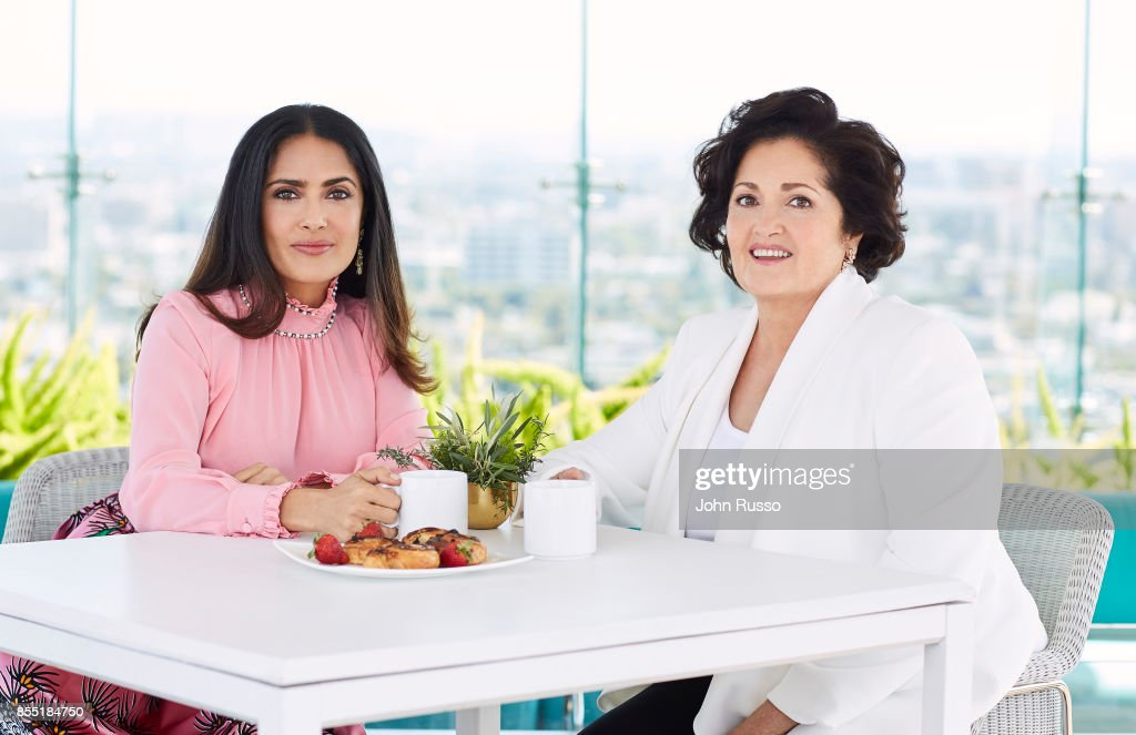 Actress Salma Hayek and her mother Diana Jimenez are photographed for Hola Magazine on April 12, 2017 in Los Angeles, California.