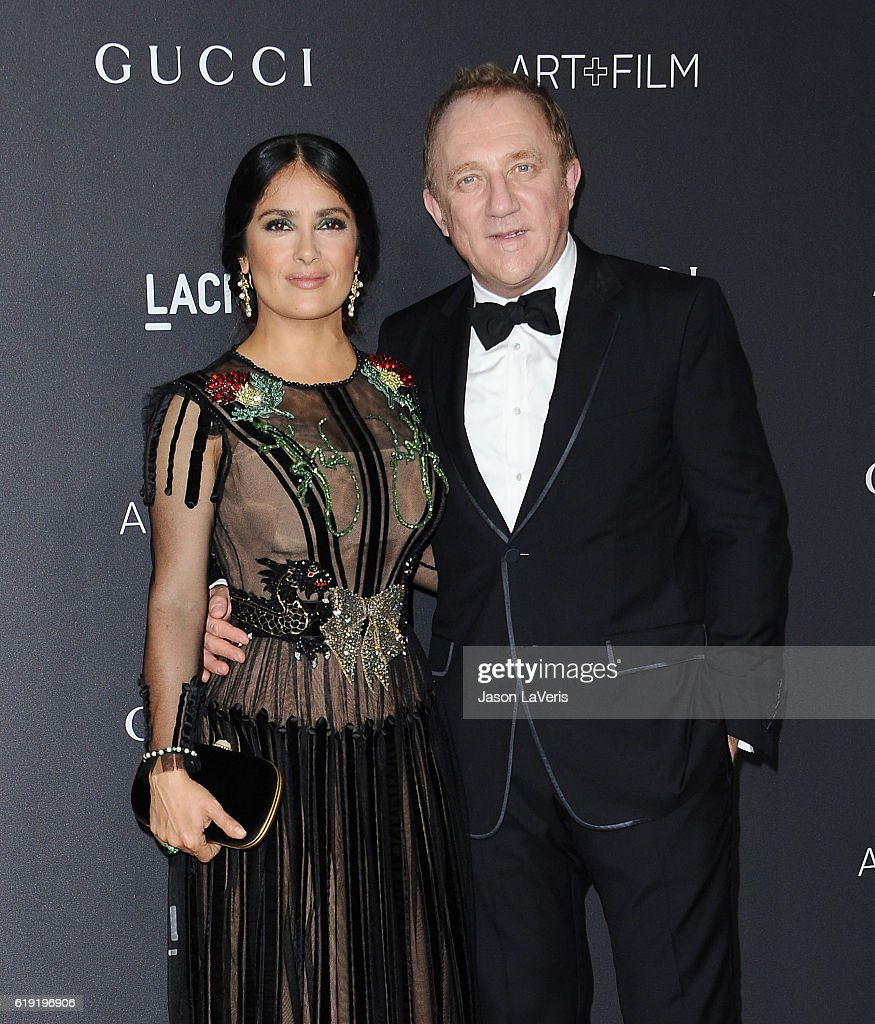 Actress Salma Hayek and husband Francois-Henri Pinault attend the 2016 LACMA Art + Film gala at LACMA on October 29, 2016 in Los Angeles, California.