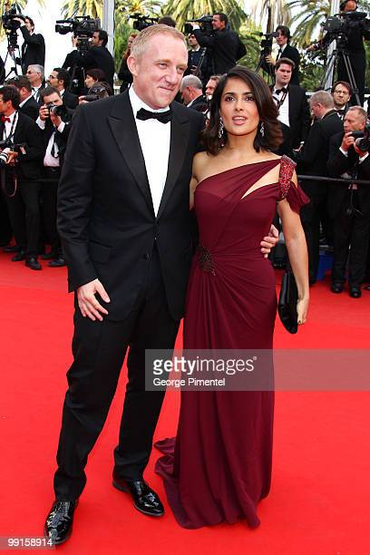 Actress Salma Hayek and husband FrancoisHenri Pinault attend the Opening Night Premiere of 'Robin Hood' at the Palais des Festivals during the 63rd...