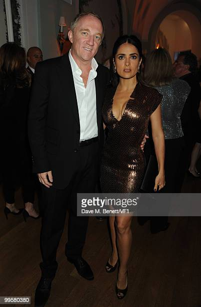 Actress Salma Hayek and husband FrançoisHenri Pinault attend the Vanity Fair and Gucci Party Honoring Martin Scorsese during the 63rd Annual Cannes...