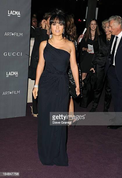 Actress Salma Hayek arrives at LACMA 2012 Art Film Gala at LACMA on October 27 2012 in Los Angeles California