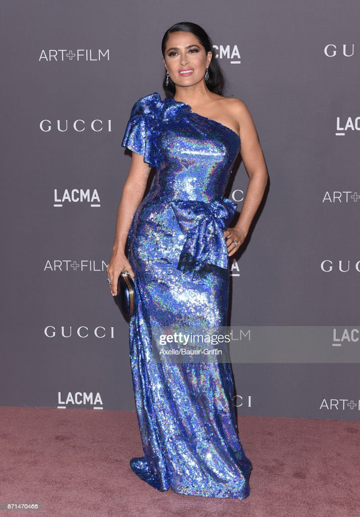 Actress Salma Hayek arrives at the 2017 LACMA Art + Film Gala at LACMA on November 4, 2017 in Los Angeles, California.