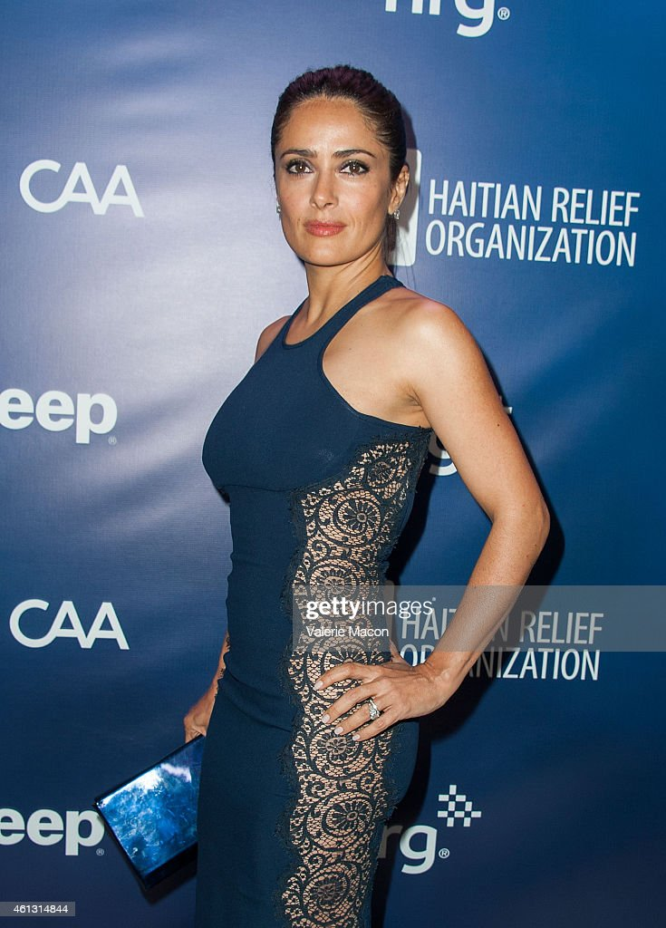 Actress Salma Hayek arrives at the 4th Annual Sean Penn Friends HELP HAITI HOME Gala Benefiting J/P Haitian Relief Organization at Montage Hotel on...