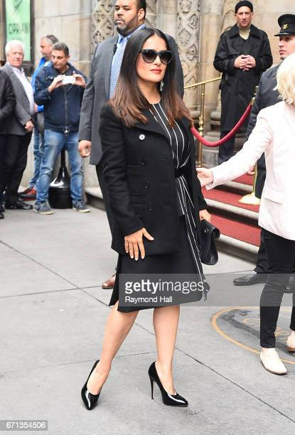 Actress Salma Hayek arrives to Variety's Power of Women New York luncheon at Cipriani Midtown on April 21 2017 in New York City