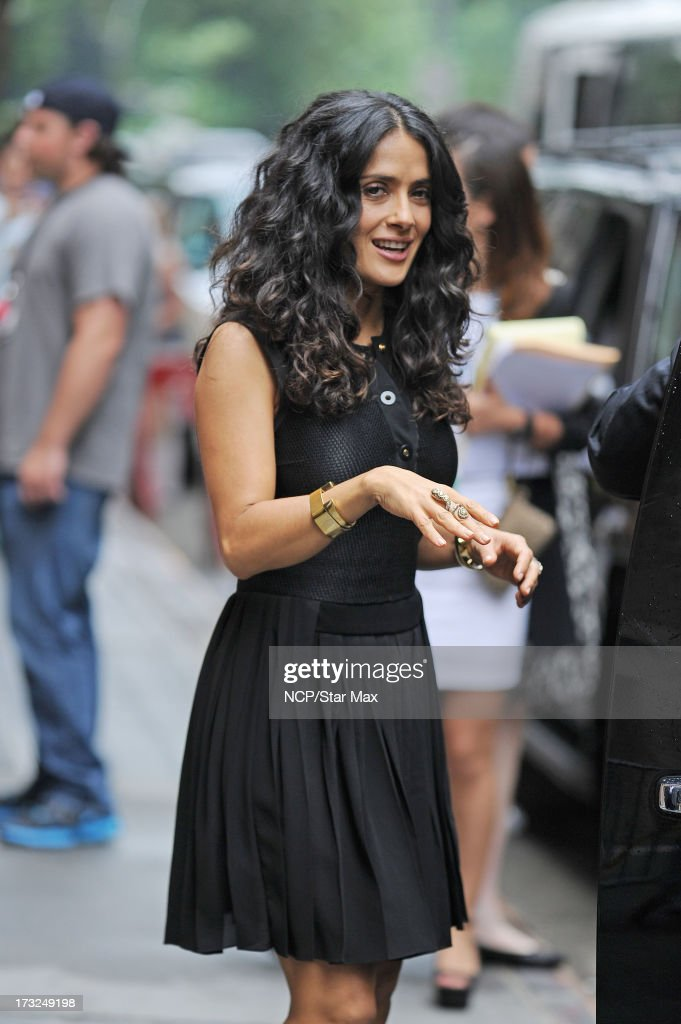 Actress Salma Hayek as seen on July 10, 2013 in New York City.