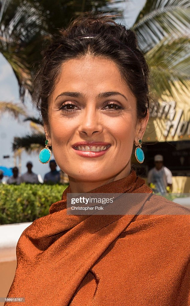 Actress Salma Hayek at 'Grown Ups 2' Photo Call at The 5th Annual Summer Of Sony at the Ritz Carlton Hotel on April 18, 2013 in Cancun, Mexico.
