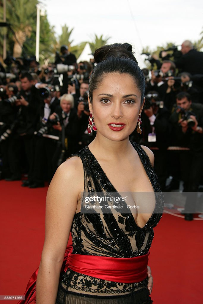 Actress Salma Hayek at the premiere of 'Chromophobia' during the 58th Cannes Film Festival.