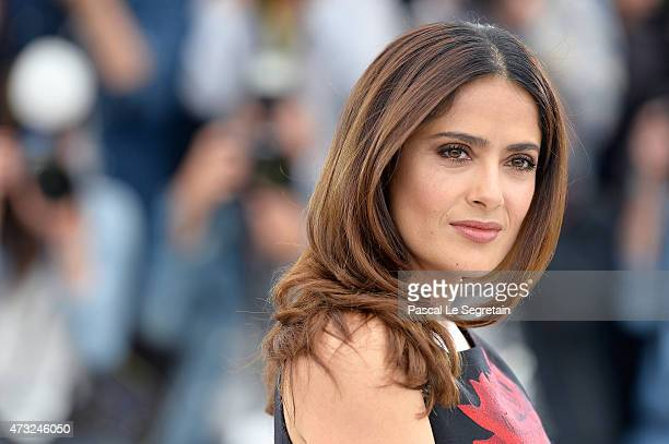 Actress Salma Hayek attends a photocall for 'Il Racconto Dei Racconti' during the 68th annual Cannes Film Festival on May 14 2015 in Cannes France