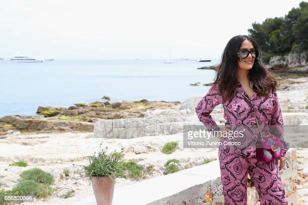 Actress Salma Hayek attends Kering Women in motion Lunch with Madame Figaro on May 22 2017 in Cannes France