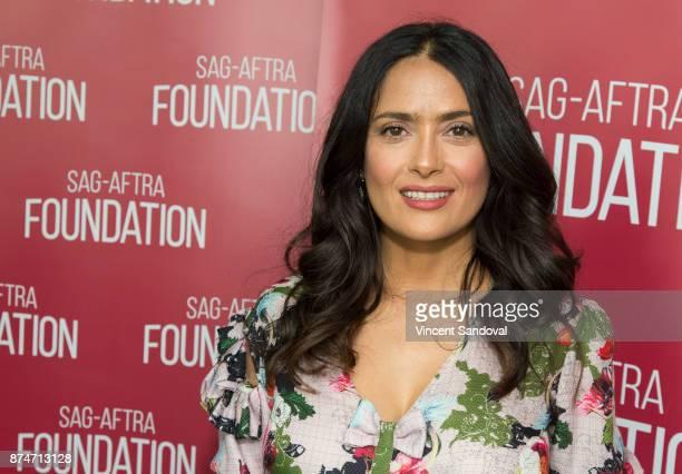 Actress Salma Hayek attends SAGAFTRA Foundation Conversations with Salma Hayek at SAGAFTRA Foundation Screening Room on November 15 2017 in Los...