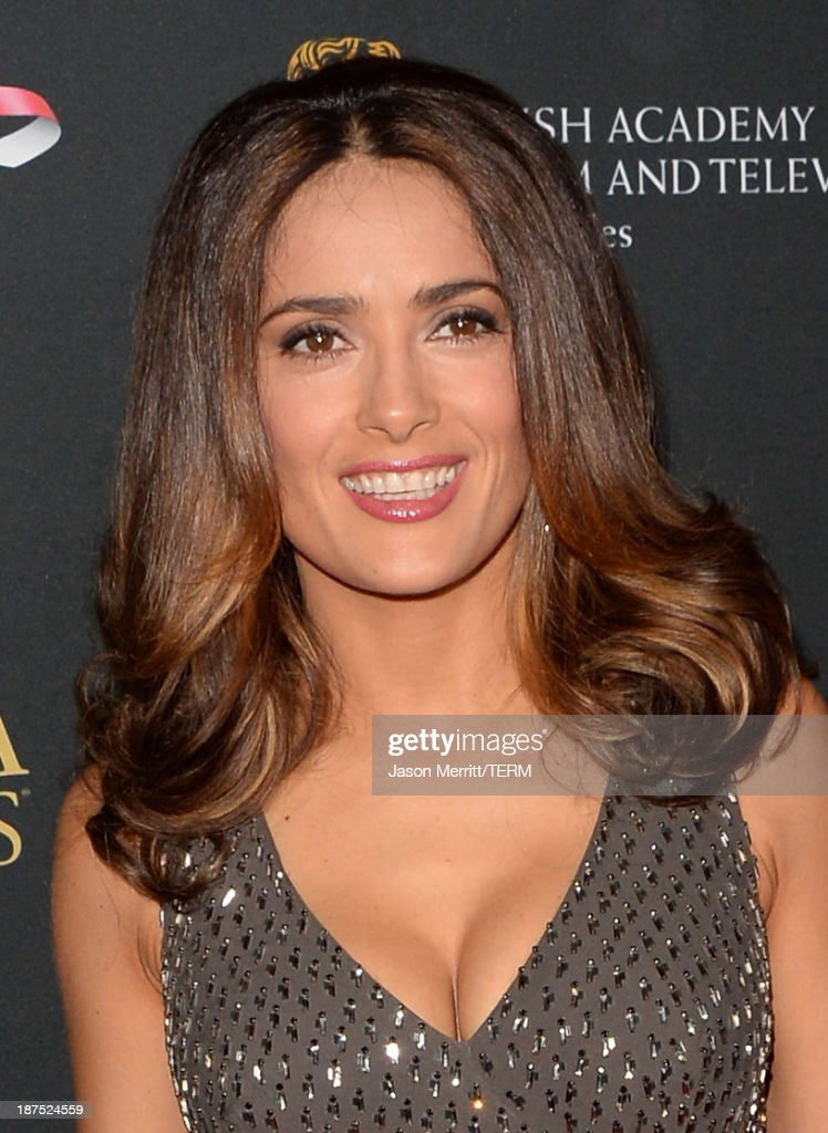 Actress <a gi-track='captionPersonalityLinkClicked' href=/galleries/search?phrase=Salma+Hayek&family=editorial&specificpeople=201844 ng-click='$event.stopPropagation()'>Salma Hayek</a> attends the 2013 BAFTA LA Jaguar Britannia Awards presented by BBC America at The Beverly Hilton Hotel on November 9, 2013 in Beverly Hills, California.