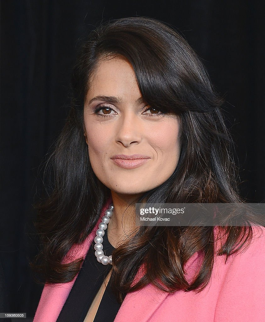 Actress <a gi-track='captionPersonalityLinkClicked' href=/galleries/search?phrase=Salma+Hayek&family=editorial&specificpeople=201844 ng-click='$event.stopPropagation()'>Salma Hayek</a> attends the 2013 Film Independent Filmmaker Grant And Spirit Awards Nominees Brunch at BOA Steakhouse on January 12, 2013 in West Hollywood, California.