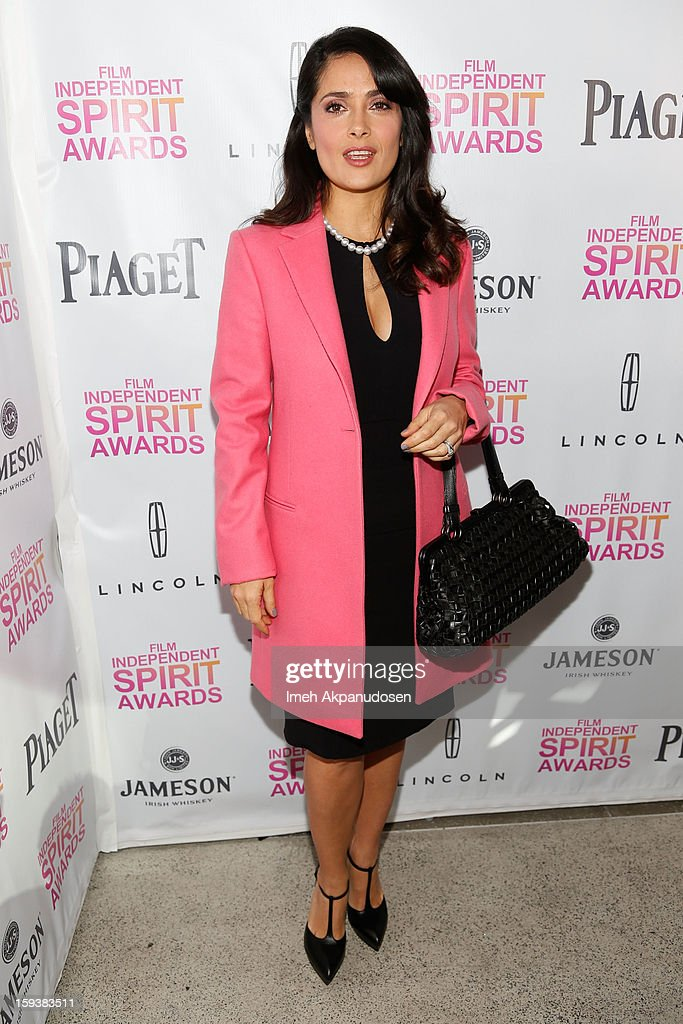 Actress Salma Hayek attends the 2013 Film Independent Filmmaker Grant And Spirit Award Nominees Brunch at BOA Steakhouse on January 12, 2013 in West Hollywood, California.