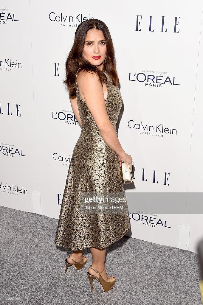Actress Salma Hayek attends the 22nd Annual ELLE Women in Hollywood Awards at Four Seasons Hotel Los Angeles at Beverly Hills on October 19, 2015 in Los Angeles, California.