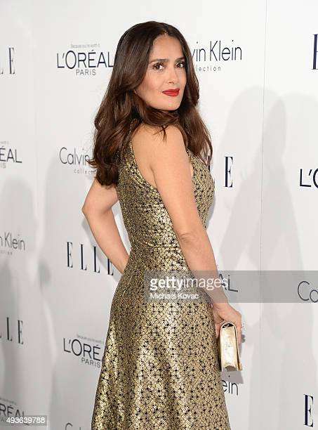 Actress Salma Hayek attends the 22nd Annual ELLE Women in Hollywood Awards at Four Seasons Hotel Los Angeles at Beverly Hills on October 19 2015 in...