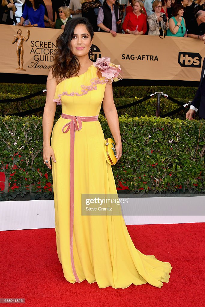 Actress Salma Hayek attends the 23rd Annual Screen Actors Guild Awards at The Shrine Expo Hall on January 29, 2017 in Los Angeles, California.