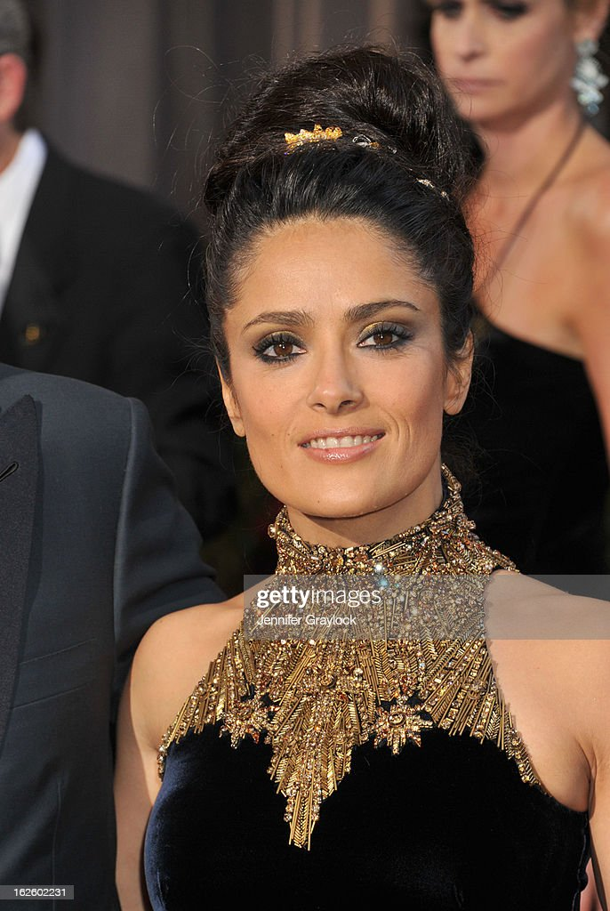 Actress Salma Hayek attends the 85th Annual Academy Awards held at the Hollywood & Highland Center on February 24, 2013 in Hollywood, California.