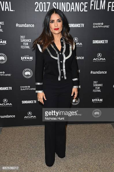 Actress Salma Hayek attends the 'Beatriz At Dinner' Premiere on day 5 of the Sundance Film Festival at Eccles Center Theatre on January 23 2017 in...