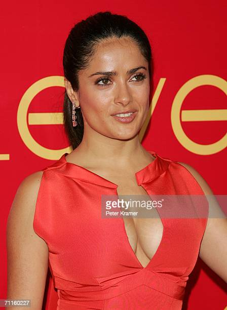 Actress Salma Hayek attends the Cartier And Interview Magazine 'Celebrate Love' party at the Cartier Mansion June 8 2006 in New York City