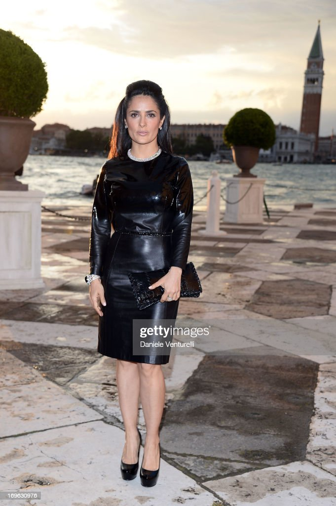 Actress Salma Hayek attends the Dinner At 'Fondazione Cini, Isola Di San Giorgio' during the 2013 Venice Biennale on May 29, 2013 in Venice, Italy.