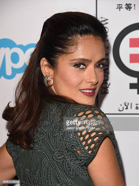 Actress Salma Hayek attends the Equality Now's Make Equality Reality event at Montage Hotel on November 3 2014 in Los Angeles California