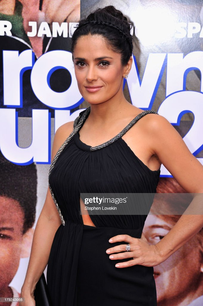 Actress Salma Hayek attends the 'Grown Ups 2' New York Premiere at AMC Lincoln Square Theater on July 10, 2013 in New York City.