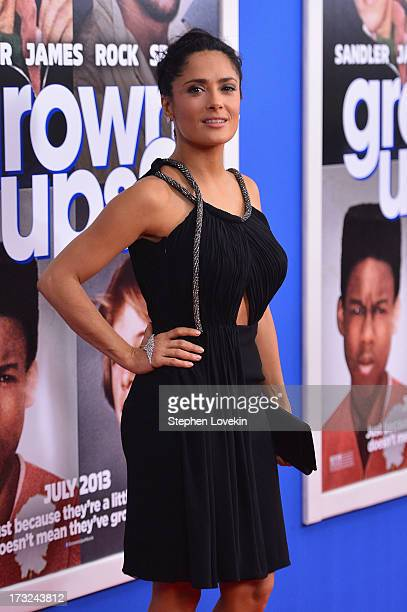 Actress Salma Hayek attends the 'Grown Ups 2' New York Premiere at AMC Lincoln Square Theater on July 10 2013 in New York City