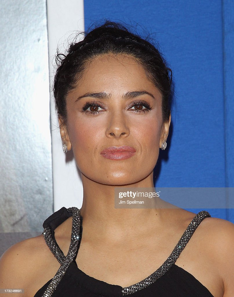 Actress <a gi-track='captionPersonalityLinkClicked' href=/galleries/search?phrase=Salma+Hayek&family=editorial&specificpeople=201844 ng-click='$event.stopPropagation()'>Salma Hayek</a> attends the 'Grown Ups 2' New York Premiere at AMC Lincoln Square Theater on July 10, 2013 in New York City.