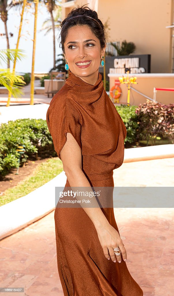 Actress Salma Hayek attends the 'Grown Ups 2' Photo Call at The 5th Annual Summer Of Sony at the Ritz Carlton Hotel on April 18, 2013 in Cancun, Mexico.