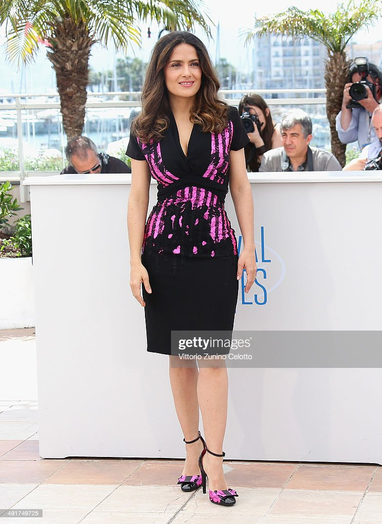 Actress <a gi-track='captionPersonalityLinkClicked' href=/galleries/search?phrase=Salma+Hayek&family=editorial&specificpeople=201844 ng-click='$event.stopPropagation()'>Salma Hayek</a> attends the 'Hommage Au Cinema D'Animation' photocall at the 67th Annual Cannes Film Festival on May 17, 2014 in Cannes, France.